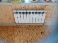 Установка чугунного радиатора отопления