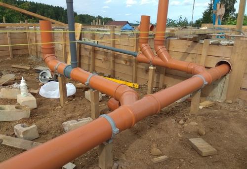 Монтаж канализации в частном доме в Королёве