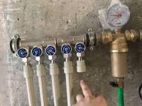 Монтаж гребенки холодного водоснабжения