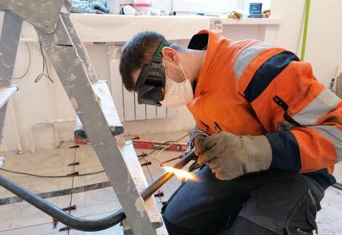 Монтаж стальных труб водоснабжения в Королёве