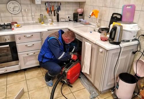 Прочистка канализации на кухне в Королёве