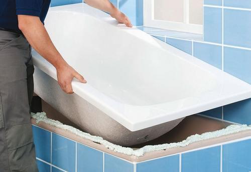 Установка акриловой ванны в Королёве