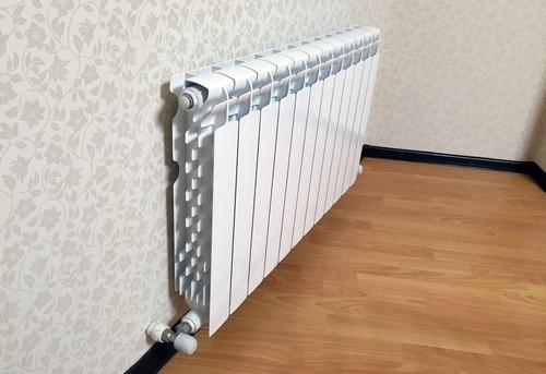 Установка алюминиевого радиатора отопления в Королёве