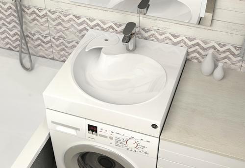 Установка стиральной машины под раковину в Королёве