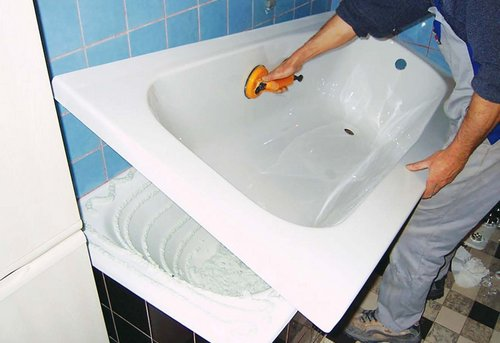 Замена акриловой ванны в Королёве