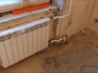 Замена чугунного радиатора отопления