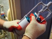 Замена сливной арматуры с нижним подводом