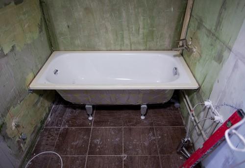 Замена стальной ванны в Королёве