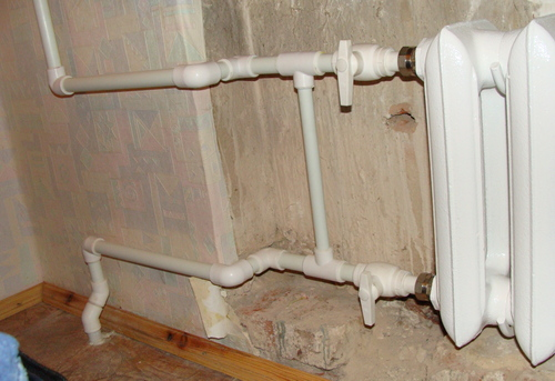 Замена стояка отопления на полипропилене в Королёве