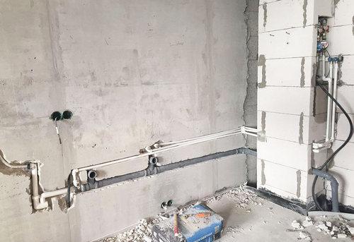 Замена труб канализации на кухне в Королёве